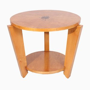 Art Deco Karelian Birch Occasional Table, 1950s