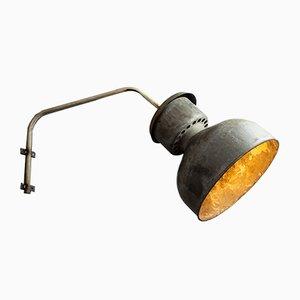 Lampada da parete industriale, anni '60
