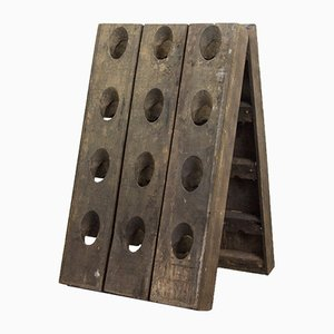 Vintage French Champagne Riddling Rack