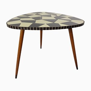 German Ceramic Mosaic Kidney Table, 1950s