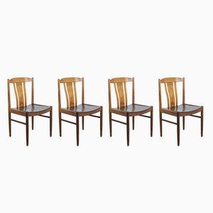 Chaises Vintage en Palissandre, 1960s, Set de 4