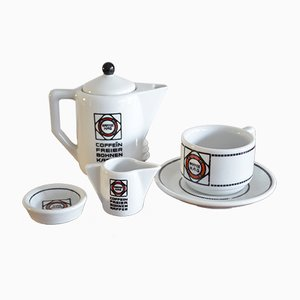 Art Deco Coffee Set by Edurad Scotland & Otto Haupt for Tettau
