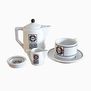 Art Deco Kaffeegeschirr von Edurad Scotland & Otto Haupt für Tettau