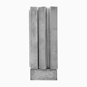 Escultura luminosa Block VI de aluminio de early light