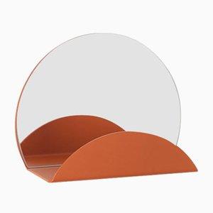 Specchio Costellation arancione con attaccapanni di Anna Mercurio per Formae
