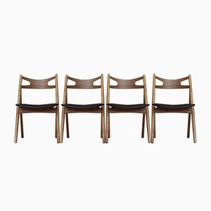 CH29 Sawbuck Dining Chairs by Hans Wegner for Carl Hansen, 1952, Set of 4