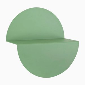 Small Pale Green Half Moon Shelf by Anna Mercurio for Formae