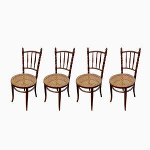 Sedie antiche di Michael Thonet per Thonet, set di 4