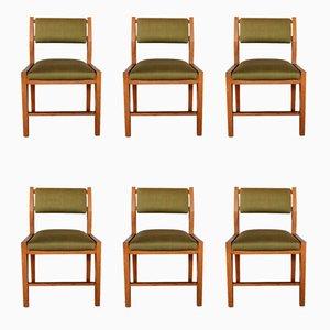 Italienische Mid-Century Stühle von Vittorio Dassi, 1960er, 6er Set