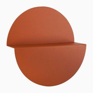 Großes orangefarbenes Halbmondregal von Anna Mercurio für Formae
