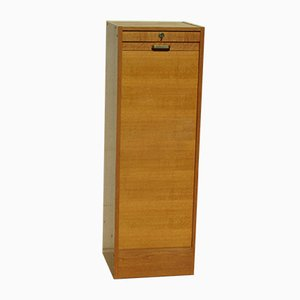 Golden Oak Shutter Cabinet, 1970s