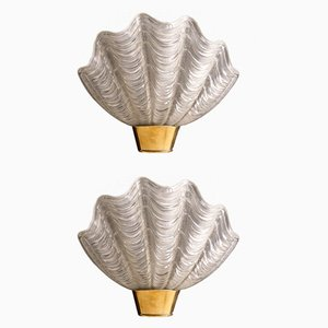 Shell Shaped Coquille Wall Lights from ASEA, 1940s, Set of 2