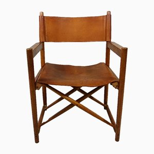 Leather Danish Folding Chair, 1960s