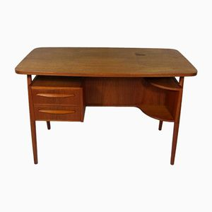 Bureau en Teck par Gunnar Nielsen Tibergaard, 1960s