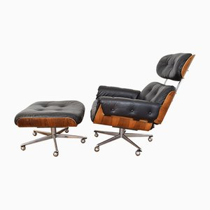 Swiss Lounge Chair and Ottoman by Martin Stoll for Stoll Giroflex, 1960s
