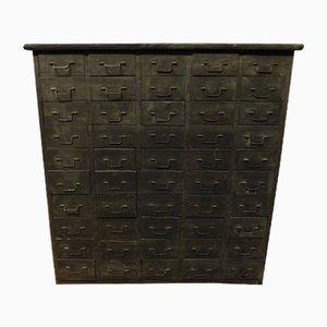 Cassettiera antica con cassetti piccoli