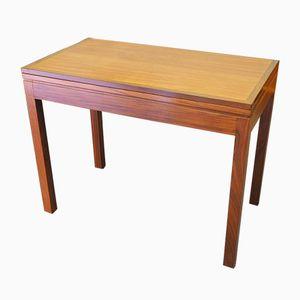 Tavolino da gioco allungabile Mid-Century in teak