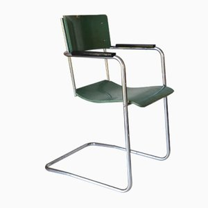 Tubular Easy Chair With Footstool By Paul Schuitema 1930s