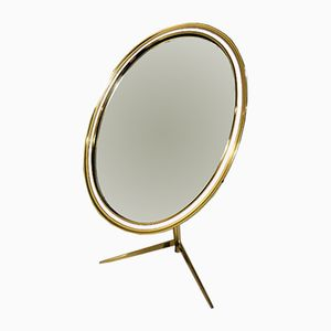 Adjustable Brass Oval Table Mirror from Deutsche Werkstatten, 1960s