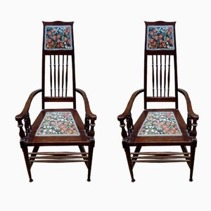 Liberty Upholstered Armchairs, 1920s, Set of 2