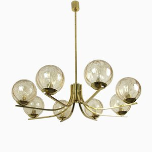 Large Chandelier from Doria Leuchten, 1970s