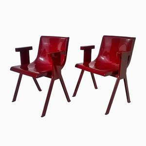 Vintage Chairs by Ettore Sottsass for Olivetti Synthesis, 1971, Set of 2