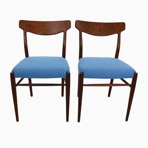 Sedie da pranzo nr. 59 in teak di Harry Østergaard per Randers Møbelfabrik, anni '60, set di 2