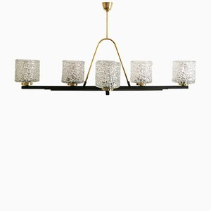 Large Mid-Century Six-Light Chandelier