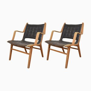 Model 6060 Ax Chairs by Peter Hvidt & Orla Mølgaard-Nielsen for Fritz Hansen, 1950s, Set of 2