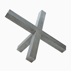 Blocking Cross I Aluminium Light Sculpture from early light