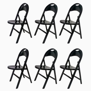 Tric Chairs by Achille Castiglioni for Bernini, 1965, Set of 6