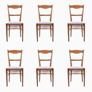 Chaises de Salle à Manger Vintage en Hêtre, 1960s, Set de 6