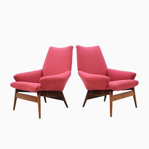 Vintage Lounge Chairs by Miroslav Navratil, 1950s, Set of 2