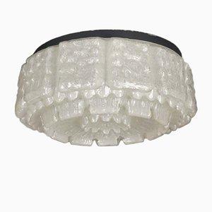 Lámpara de techo vintage de vidrio de Limburg