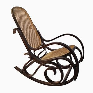 Vintage Cane & Bentwood Rocking Chair