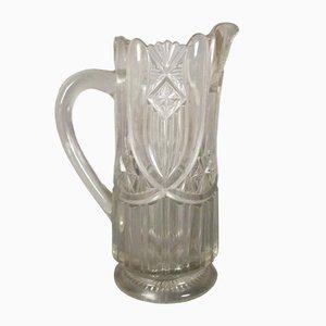 Brocca Art Nouveau in cristallo, inizio XX secolo