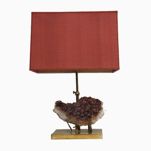 Vintage Mineral Table Lamp, 1970s