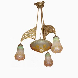 Antique Ceiling Lamp by Louis Marjorelle for Majorelle and Daum