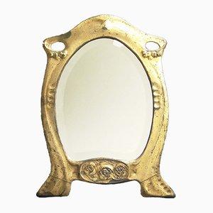 Espejo de mesa alemán antiguo de Hugo Leven