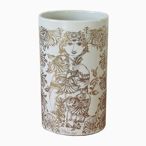 Vaso in porcellana di Bjørn Wiinblad per Nymolle, anni '60