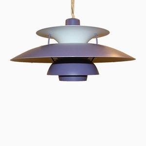 Lampe à Suspension PH5 Violet Vintage par Poul Henningsen pour Louis Poulsen, 1950s