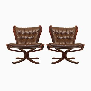 Mid-Century Lounge Chairs by Sigurd Ressell for Vatne Møbler, 1960s, Set of 2