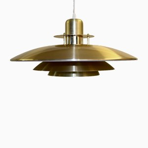 Danish Brass Pendant Lamp from Jeka Metaltryk, 1970s