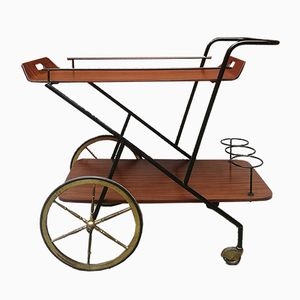 Wood, Brass & Iron Trolley, 1950s