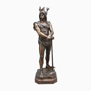 Scultura in bronzo di Vercingetorix di Debut, 1880