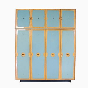 Mid-Century Four-Door Wardrobe from Consorzio Mobili, 1959