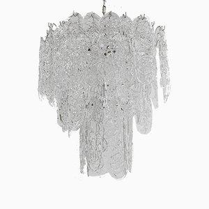 Lampadario in vetro di Murano di Venini, anni '50