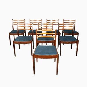 Sedie da pranzo vintage in teak di Victor Wilkins per G-Plan, set di 8