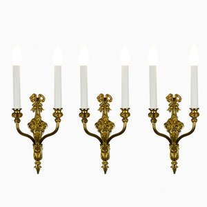 Antique Wall Lamps, 1890s, Set of 3