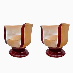 Art Deco Tulip Lounge Chairs from Hotel Le Malandre, Set of 2